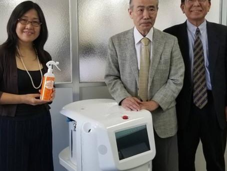 菊池製作所の噴霧ロボにコロブロックが推奨 2020年6月3日日本経済新聞・日刊工業新聞