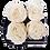 Thumbnail: CLASSIC 4 ETERNAL ROSES - GLITTER WHITE - BLACK SQUARE BOX