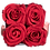 Thumbnail: CLASSIC 4 ETERNAL ROSES - PASSION RED - WHITE SQUARE BOX