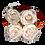 Thumbnail: CLASSIC 4 ETERNAL ROSES - PURE WHITE - GREY SQUARE BOX