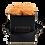 Thumbnail: CLASSIC 4 ETERNAL ROSES - VELVETY PEACH - BLACK SQUARE BOX