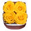 Thumbnail: 4 Roses Eternelles Jaune d'Or - Box carrée Rose Poudré