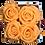 Thumbnail: CLASSIC 4 ETERNAL ROSES - VELVET PEACH - GREY SQUARE BOX