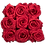 Thumbnail: 9 Roses Eternelles Rouge Passion - Box carrée Rose Poudré