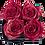 Thumbnail: CLASSIC 4 ETERNAL ROSES - GLITTER RED - BLACK SQUARE BOX