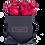 Thumbnail: 4 Roses Eternelles Rouge pailleté - Box carrée Noire