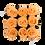 Thumbnail: 9 Roses Eternelles Pêche Velouté - Box carrée Noire