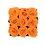 Thumbnail: 9 Roses Eternelles Orange Vibrant - Box carrée Noire