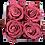Thumbnail: 4 Roses Eternelles Bois de Rose - Box carrée Rose Poudré