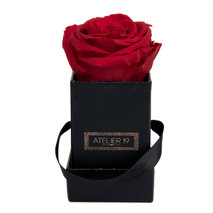 1 Eternal Rose - Passion Red - Black square Box