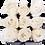 Thumbnail: 9 Roses Eternelles Blanc Pailleté - Box carrée Noire