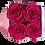 Thumbnail: 4 Roses Eternelles Carmin Intense - Box carrée Rose Poudré