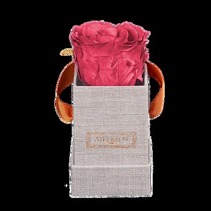 1 eternal rose - Rosewood - Grey square Box