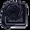 Thumbnail: 1 Eternal Rose - Black Glitter - Black square Box