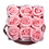 Thumbnail: 9 Roses Eternelles Rose Tendre - Box carrée Gris Chiné