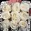 Thumbnail: 9 Roses Eternelles Champagne - Box carrée Bois Clair