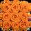 Thumbnail: 9 Roses Eternelles Orange Vibrant - Box carrée Rose Poudré