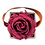 Thumbnail: 1 eternal rose - Rosewood - Grey square Box