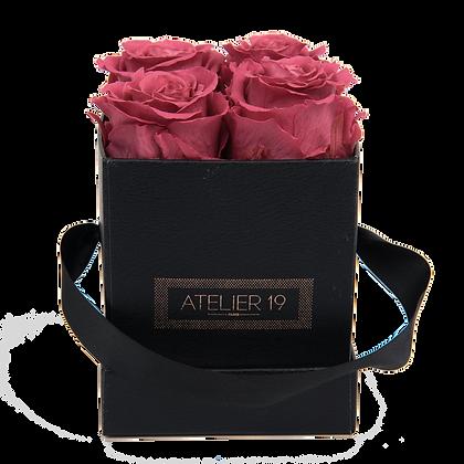 4 Eternal Roses - Rosewood - Black Square Box