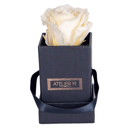 1 Rose Eternelle Champagne - Box carrée Noire