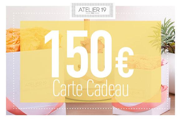 Carte Cadeau 150€ - Atelier 19