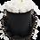 Thumbnail: MAXI 15 ROSES ÉTERNELLES - BLANC PUR - BOX RONDE NOIRE