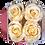 Thumbnail: 4 Roses Eternelles Champagne  - Box carrée Rose Poudré