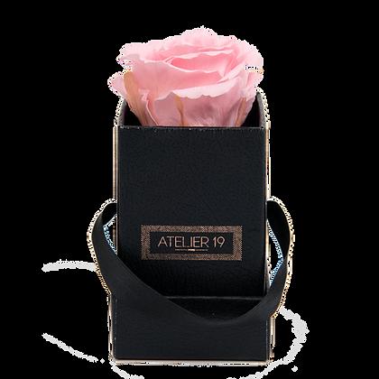 1 Rose Eternelle Rose Tendre - Box carrée Noire