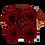 Thumbnail: 4 Roses Eternelles Carmin Intense - Box carrée Grise
