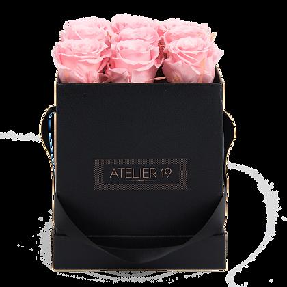 PLUS 9 ETERNAL ROSES - SOFT PINK - BLACK SQUARE BOX