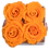 Thumbnail: 4 Eternal Roses - Vibrant Orange - Light Wood square Box