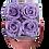 Thumbnail: 4 Roses Eternelles Parme Doux - Box carrée  Bois Clair