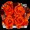 Thumbnail: CLASSIC 4 ETERNAL ROSES - VIBRANT ORANGE - GREY SQUARE BOX