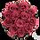 Thumbnail: 15 Eternal Roses - Rosewood - XL Heather Grey Round Box