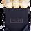 Thumbnail: 9 Roses Eternelles Champagne - Box carrée Noire