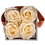 Thumbnail: CLASSIC 4 ETERNAL ROSES - CHAMPAGNE - GREY SQUARE BOX