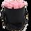 Thumbnail: MAXI 15 ROSES ÉTERNELLES - ROSE TENDRE - BOX RONDE NOIRE
