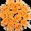 Thumbnail: 15 Roses Eternelles Pêche Velouté - Box Ronde Noire XL