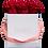 Thumbnail: PLUS 9 ETERNAL ROSES - PASSION RED - WHITE SQUARE BOX