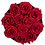 Thumbnail: 15 Roses Eternelles Rouge Passion - Box Ronde Gris Chiné XL