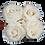 Thumbnail: 4 Roses Eternelles Blanc Pur - Box carrée Blanche