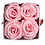 Box Blanche 4 roses Rose Tendre