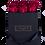 Thumbnail: 9 Roses Eternelles Carmin Intense - Box carrée Noire