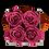 Thumbnail: 4 Roses Eternelles Bois de Rose - Box carrée Grise