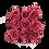 Thumbnail: 9 Roses Eternelles Bois de Rose - Box carrée Noire