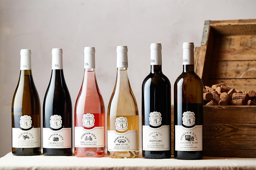 Tura wine - Heartland, Pinot Noir, Chardonnay, Gewurztraminer and Rose from the Mountain Vista series