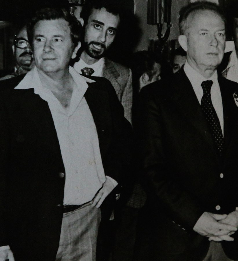 Prime Minister Yitzhak Rabin on one of his last formal visits before the greatMahapah. Created in 1974. From the private collection of Yehuda Ilan. Donated after his passing away to his son Yoav Ilan and owned now by Yoav Ilan. Scanned in 2017. Offered now to the public -