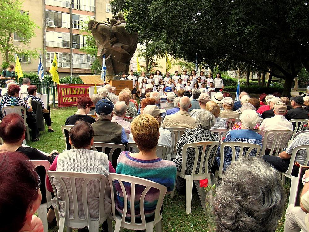 Victory Day Ceremony in Kiryat Mozkin, Israel, 2018.