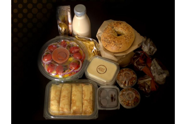 A large breakfast with various dishes by MatanaShop