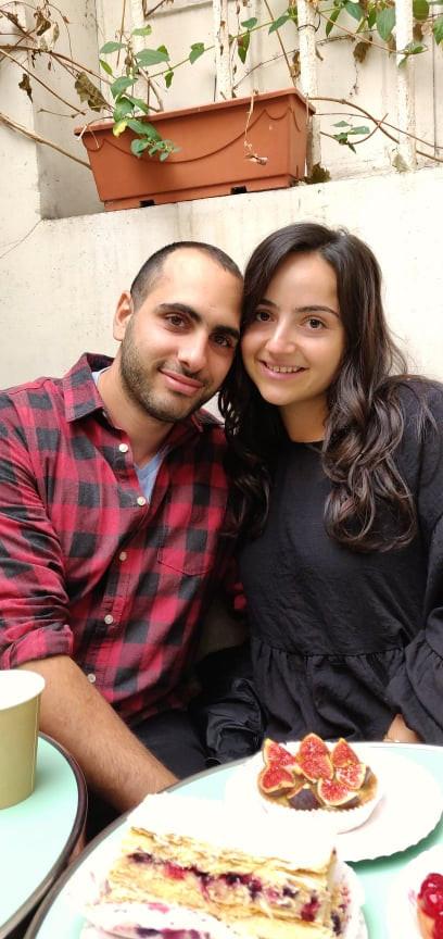 Oleh Agathe Benichou with her fiance
